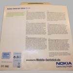 Nokia Verpackung Rückseite