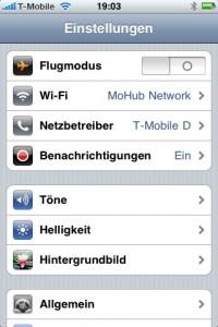 Iphone Netzwerk