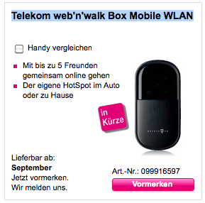 neue telekom web n walk box mobile wlan ab september. Black Bedroom Furniture Sets. Home Design Ideas