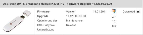 Firmewareupdate für Surfstsik K3765