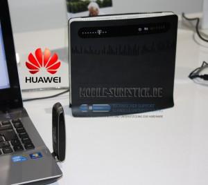 B390 Router Huawei und E398 LTE Stick