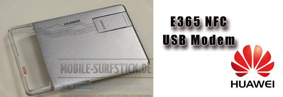 Post image of Cebit 2011 Huawei E365 USB Modem im Scheckkartenformat und NFC fähig