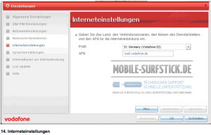 Interneteinstellungen APN etc.