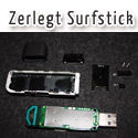 Post thumbnail of Defekter Surfstick zerlegte in Einzelteilen als Anschauungsobjekt